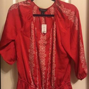 White House & Black Market red silky top